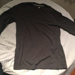 Gray Long-Sleeve Shirt